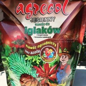 Высококачественное гранулированное многокомпонентное осеннее удобрение Agrecol (Агрекол) для хвойных растений