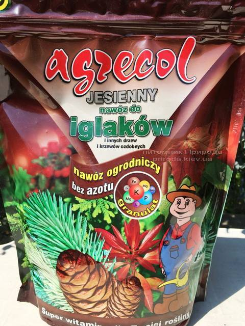 Высококачественное гранулированное многокомпонентное осеннее удобрение Agrecol (Агрекол) для хвойных растений (7)